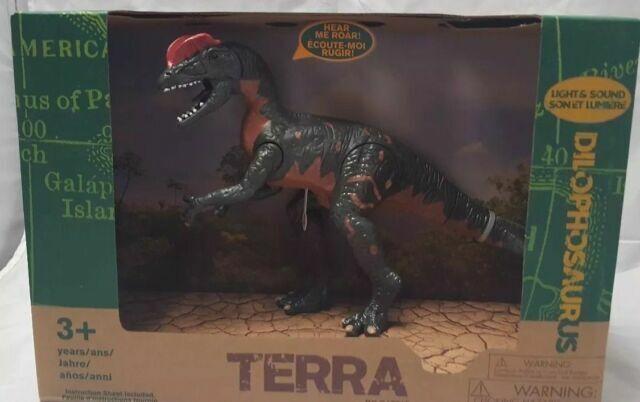 Terra by Battat Dilophosaurus With Light /& Sound Dinosaur