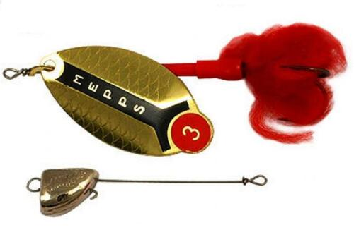 LEADHEAD Colors /& Sizes Great for PIKE Mepps Lusox Hard Spinnerbait Lure