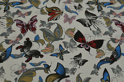 Prestigious Butterfly Fabric p/m - Pure Cotton, Curtains, Upholstery, Multicolor