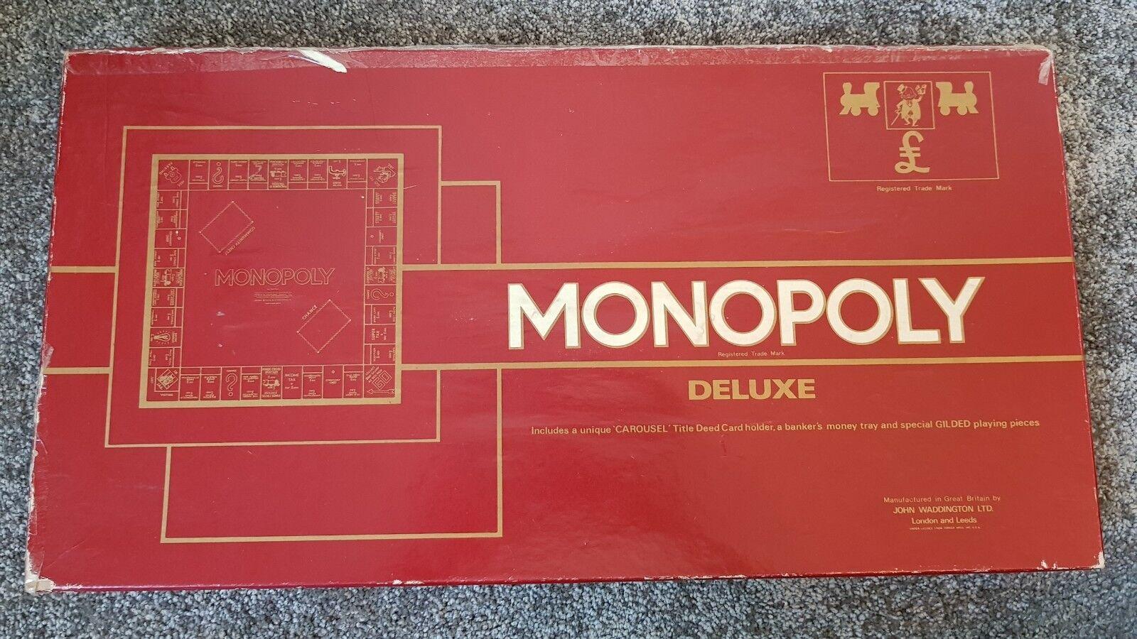 Monopol deluxe durch waddingtons - 1972 - sonderausgabe uk brettspiel