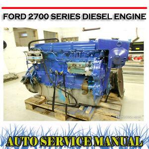 ford 2700 series 4   6 cylinder diesel engine workshop service manual   dvd ebay