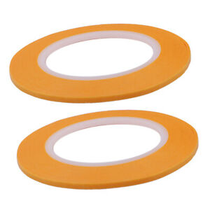 2Pcs 4mm DIY Masking Tape Water Solvent Resistance Painting Model Paper Tape