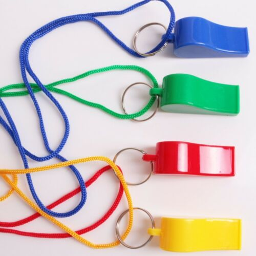 2x Classical Colourful WHISTLES Sport Dog Puppy Training Lanyard//Neck//Wrist Cord
