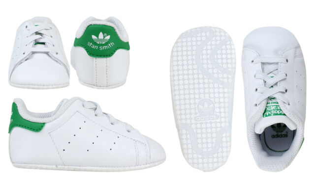 4aeafb9262ad Adidas Originals Stan Smith Crib Shoes Baby Infant Girls Trainers - B24101