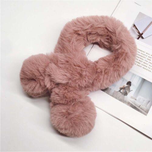 Warm Winter Kid Imitation Fur Rabbit Boys Girls Plush Scarf  Muffler Neckerchief