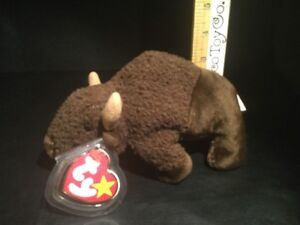 Ty Beanie Baby Roam The Buffalo Mint With Mint Tags Stuffed