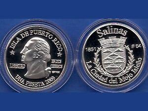 Silver PESETA CABO ROJO 2009 Puerto Rico Boricua Quarter 1//100 Plata