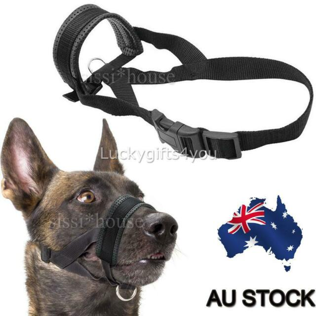 No Barking Bite Chew Adjustable Pet Large Medium Dog Muzzle Mask Soft Nylon Cage