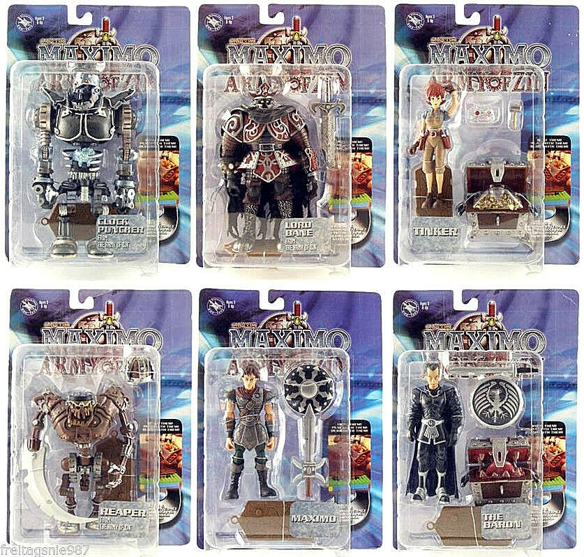 MAXIMO VS ARMY OF ZYN   Set of 6  PVC Figuras 11-16cm BMA Juguetes