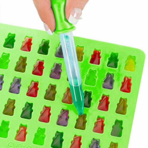 50x Silicone Chocolate Mould Baking Non Stick Cake Sweets 3D Mini bäre B8M4