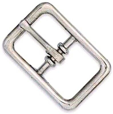 """1/2"""" Nickel Plate BRIDLE BUCKLE 1509-00 Tandy Leather Strap Straps Steel Buckles"""