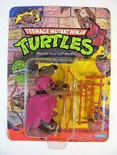 VINTAGE 1988 TEENAGE MUTANT NINJA TURTLES 10 BACK SPLINTER MOC UNPUNCHED