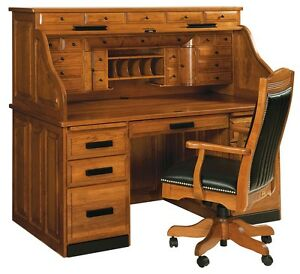 Amish Mission Arts Amp Crafts Roll Top Desk Solid Wood