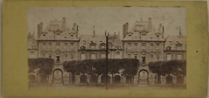 Place Dei Vosges Parigi Francia Foto Stereo Vintage Albumina c1865