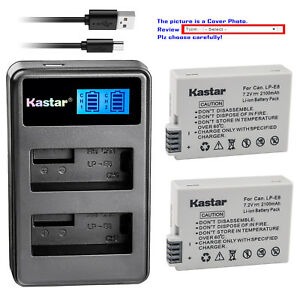 Kastar-LP-E8-LPE8-Battery-Charger-for-Canon-EOS-Rebel-T2i-EOS-Rebel-T3i-Camera