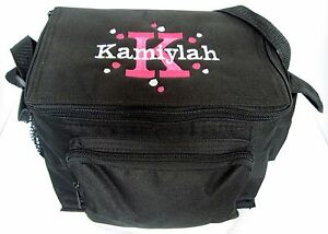 Details About Personalized Black Lunch Box Bag Insulted Monogrammed New School Embroidery