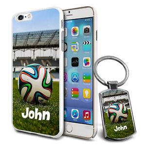 7567c6a6297 La imagen se está cargando Futbol-Personalizado-Funda-amp-Llavero-para -Varios-Moviles-