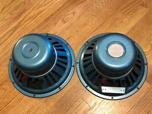 Pair-of-Vintage-Utah-D12P-12-034-Full-Range-Speakers-8-ohm-ONE-DISTORTED