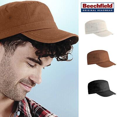 Beechfield Organic Cotton Army Cap-cappello Casual Ed Elegante Per Uomini & Donne-