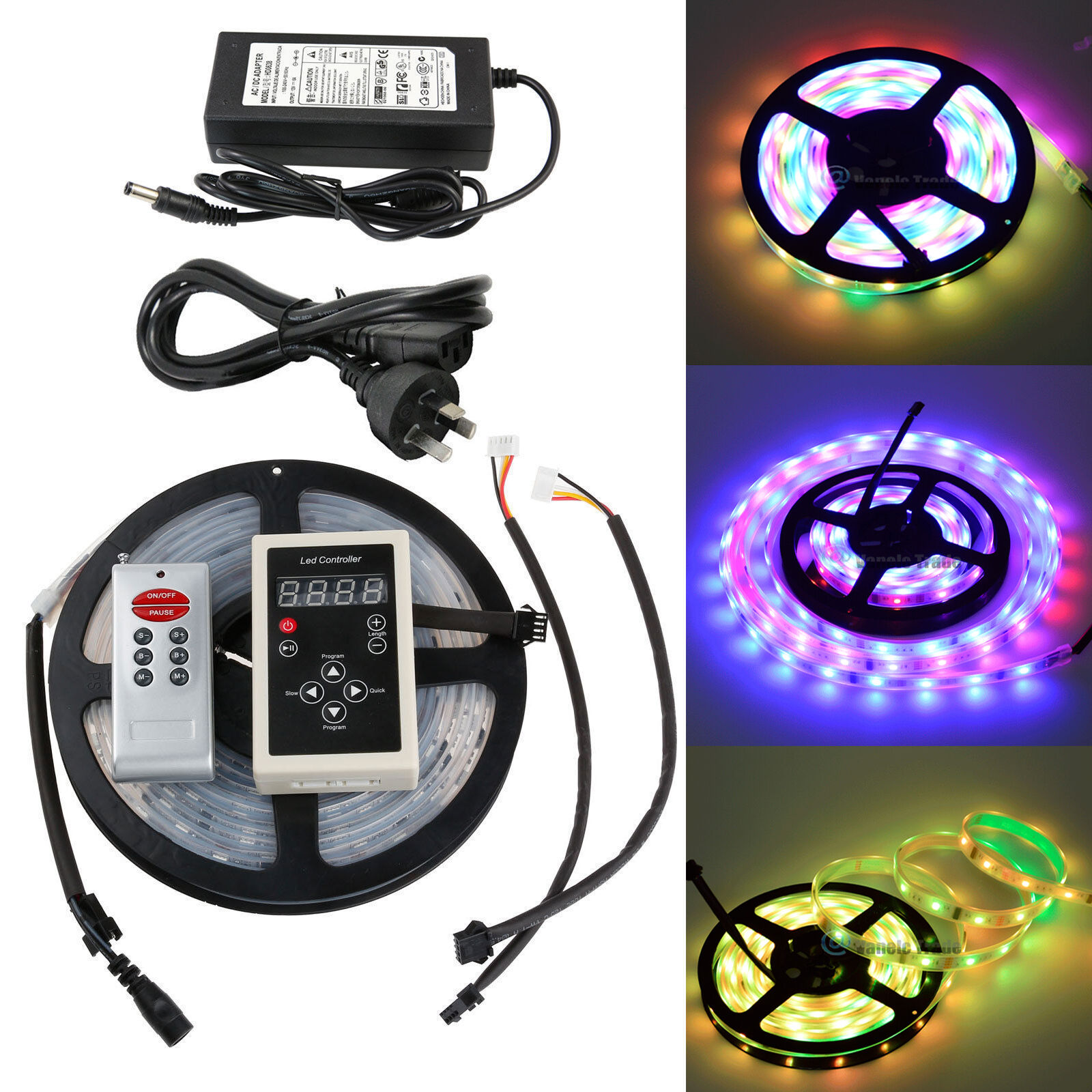 fits SMD 5050 5630 16ft 5m LED Lights RGB 3 feet 4 pin LED extension cord
