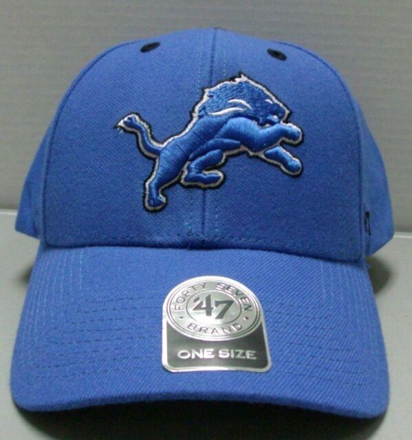 c30aaf3f NFL Detroit Lions 47 MVP Adjustable Hat One Size Blue Raz
