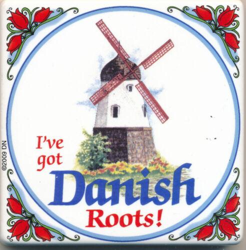 I/'ve Got Danish Roots Tile Refrigerator Magnet