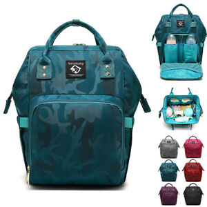 Details About Water Resistant Camo Baby Diaper Bag Backpack Ny Changing Travel