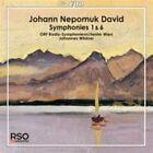 Johann Nepomuk David - : Symphonies Nos. 1, 6 (2014)