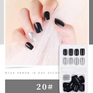 24pcs-Nail-Tip-Artificial-False-Acrylic-Design-Fake-French-Full-Nails-UK