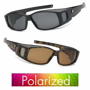 Polarized Sunglasses Cover Put Wear Over Prescription