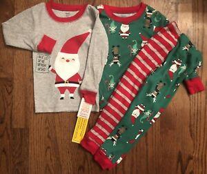 295eb5f201b2 Just One You Carter s Toddler 18m Christmas Santa Pajamas NWT 100 ...