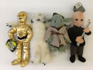 1997 Kenner Hasbro Star Wars Buddies Salacious Crumb Beanie Plush Toy Unused