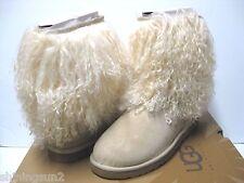 Ugg Sheepskin Cuff Short Sand/Natural Women Boots US 8/UK6.5/EU39/JP25