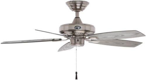 42 in Indoor Outdoor Brushed Nickel Ceiling Fan 5 Blade 3 Speed Reversible Porch