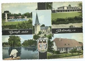 Colour-Postcard-of-5-Views-of-Bunde-Germany