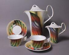 6 Teile Rosenthal Mythos Icaria Kaffeekanne Milchkännchen 2 Tassen mit Untere