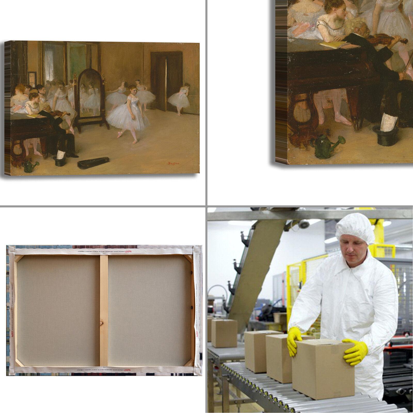 Degas classe classe classe di danza 2 design quadro stampa tela dipinto telaio arrossoo casa 495096