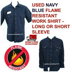 8d91bbddcb1 Image is loading Used-Flame-Resistant-FR-Work-Shirts-Cintas-Workrite-