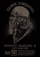 BLACK SABBATH 2013 WASHINGTON D.C. CONCERT TOUR POSTER-Heavy Metal,Ozzy Osbourne
