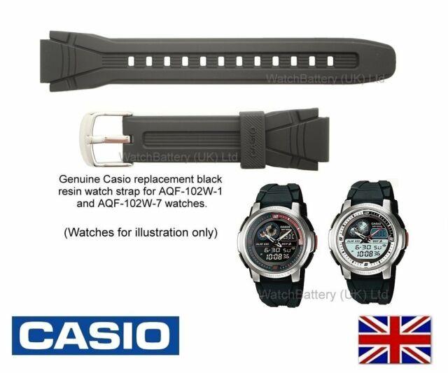 Genuino Reloj Correa Banda de reemplazo AQF-102W Casio Reloj. código de Correa: 727-FW1-17