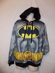 mens-DC-comics-batman-sweatshirt-hoodie-jacket-M-nwt-armor