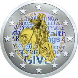 2-Euro-Gedenkmuenze-Vatikan-2016-coloriert-Farbe-Farbmuenze-Barmherzigkeit
