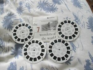 VINTAGE VIEW-MASTER REELS  The 7 Wonders of the World x 4