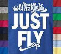 Wiz Khalifa Just Fly 100% Ringspun Cotton T-shirt Taylor Gang Mmg Last Kings Tee