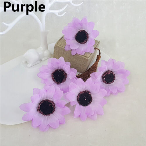10Pcs Artificial Silk Gerbera Flowers Daisy Sunflower Heads Wedding Party Decor#