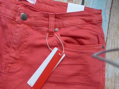 Sheego Pantalon Jeans Lana Rouge Femmes Taille 40 à 58 Droit 525
