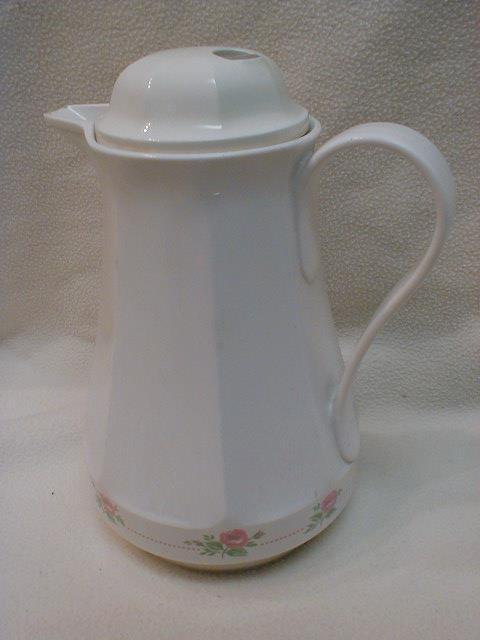 Thermos Coffee Carafe 430 Christa West Germany Vintage 1985 Cream Multi-color