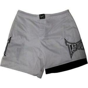 New-Tapout-Men-039-s-Mixed-Martial-Arts-MMA-Shorts-White-amp-Black-UFC-RARE