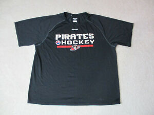 Reebok-Portland-Pirates-Shirt-Adult-Extra-Large-Black-NHL-AHL-Hockey-Dri-Fit-Men