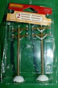 """Estate=Christmas = Train = Lot K13 Set of (2) from Lemax Electric Poles  LOOK 4"""""""